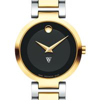 WashU Women's Movado Two-Tone Modern Classic Museum with Bracelet