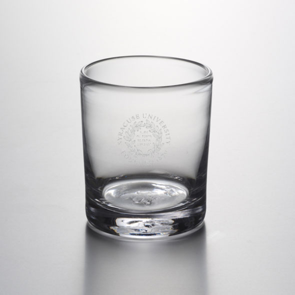 Syracuse University Double Old Fashioned Glass by Simon Pearce