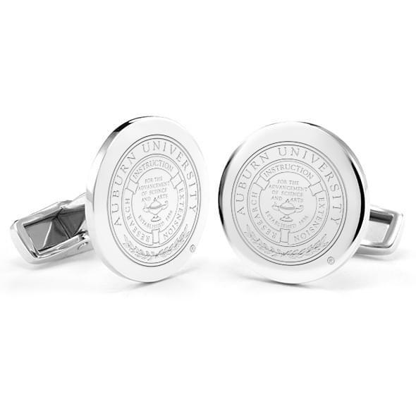Auburn University Cufflinks in Sterling Silver