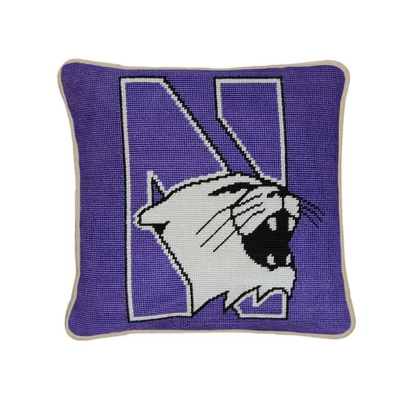 Northwestern Handstitched Pillow - Image 1