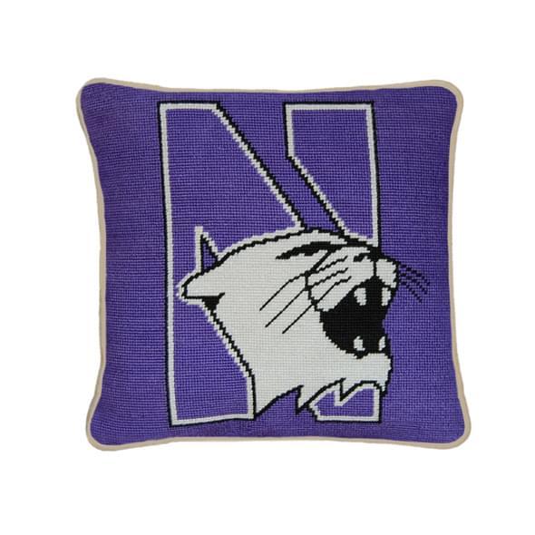 Northwestern Handstitched Pillow