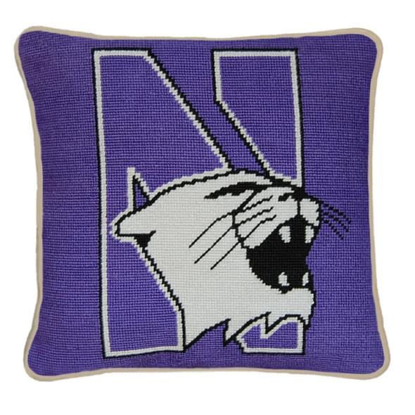Northwestern Handstitched Pillow - Image 2