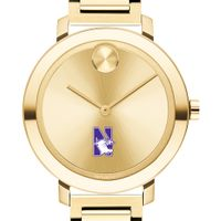 Northwestern University Women's Movado Gold Bold 34
