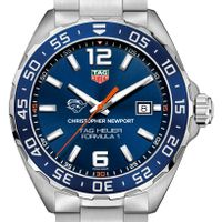 Christopher Newport University Men's TAG Heuer Formula 1 with Blue Dial & Bezel