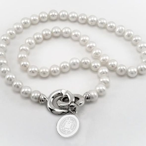 UNC Pearl Necklace with Sterling Silver Charm