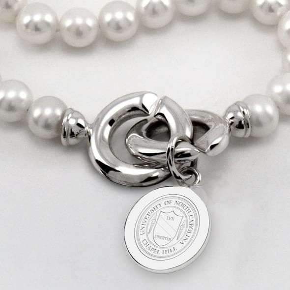UNC Pearl Necklace with Sterling Silver Charm - Image 2