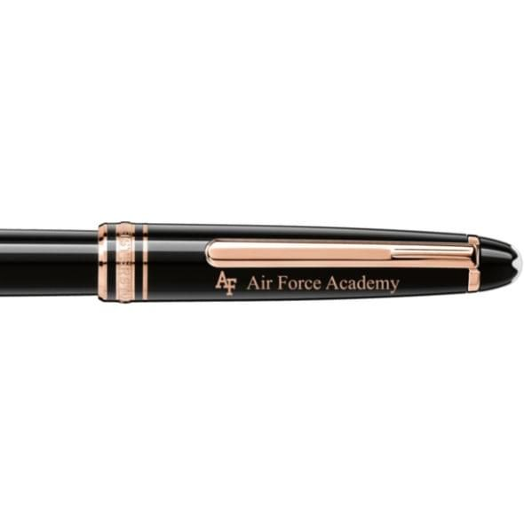 US Air Force Academy Montblanc Meisterstück Classique Rollerball Pen in Red Gold - Image 2