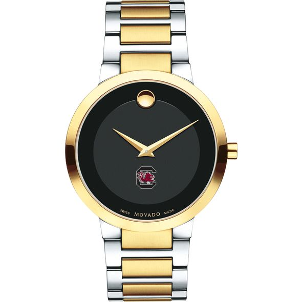 University of South Carolina Men's Movado Two-Tone Modern Classic Museum with Bracelet - Image 2