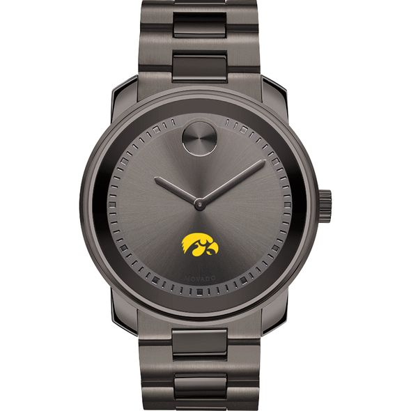 University of Iowa Men's Movado BOLD Gunmetal Grey - Image 2