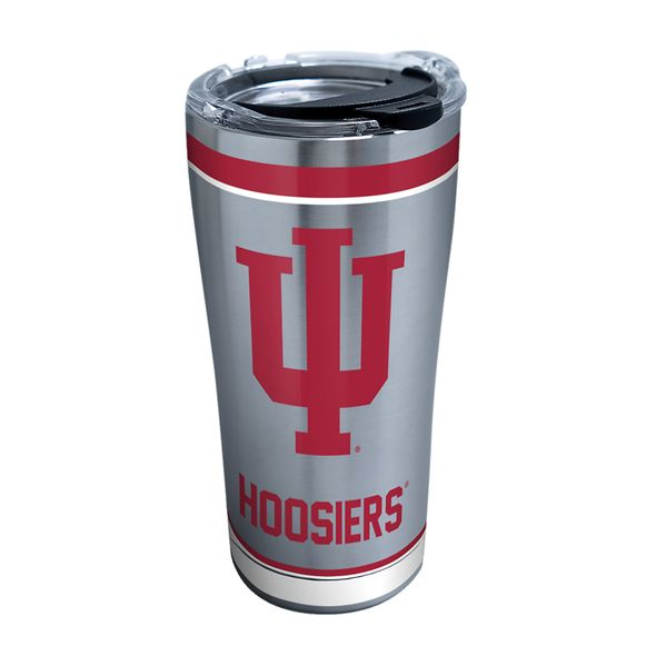 Indiana 20 oz. Stainless Steel Tervis Tumblers with Hammer Lids - Set of 2 - Image 1
