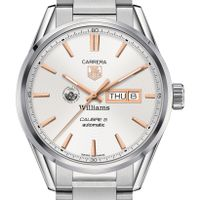 Williams College Men's TAG Heuer Day/Date Carrera with Silver Dial & Bracelet
