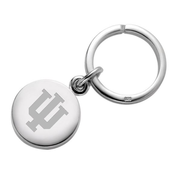 Indiana University Sterling Silver Insignia Key Ring