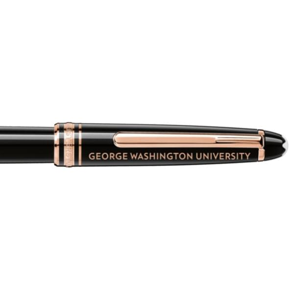 George Washington University Montblanc Meisterstück Classique Rollerball Pen in Red Gold - Image 2