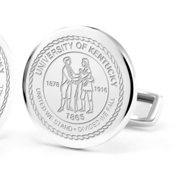 University of Kentucky Cufflinks in Sterling Silver - Image 2