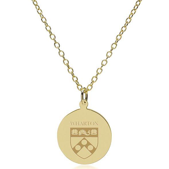Wharton 14K Gold Pendant & Chain - Image 2