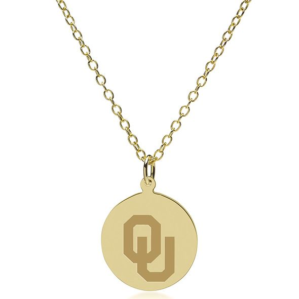 Oklahoma 18K Gold Pendant & Chain - Image 2