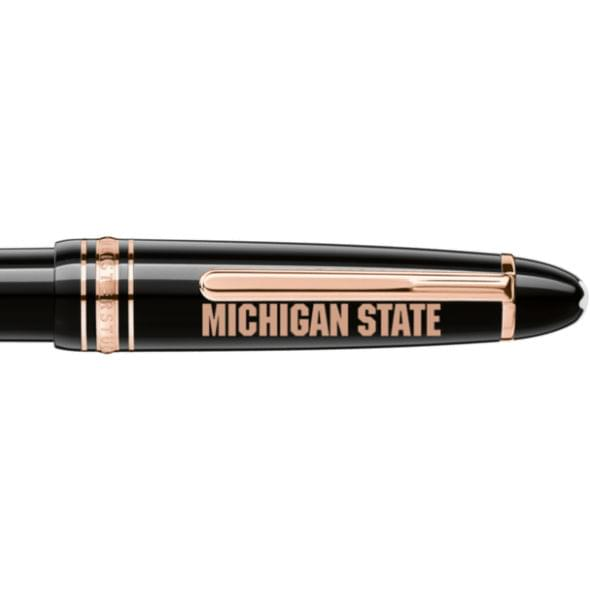 Michigan State University Montblanc Meisterstück LeGrand Ballpoint Pen in Red Gold - Image 2