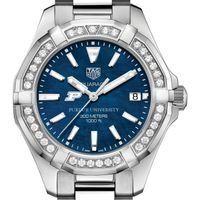 Purdue Women's TAG Heuer 35mm Steel Aquaracer with Blue Dial