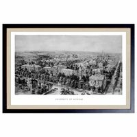 Historic University of Michigan Black and White Print