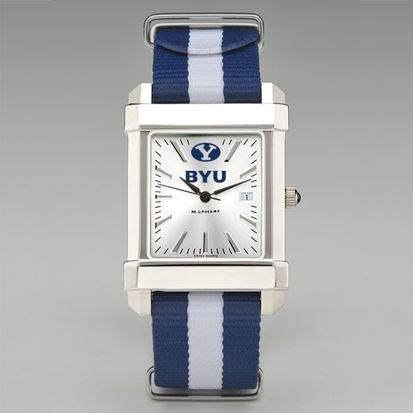 Brigham Young University Collegiate Watch with NATO Strap for Men - Image 2