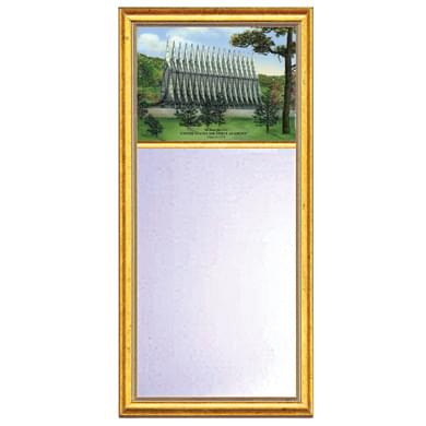 Air Force Academy US Medium Mirror with Gold Frame