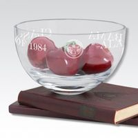 "Alabama 10"" Glass Celebration Bowl"