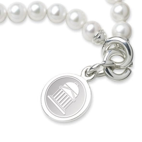 SMU Pearl Bracelet with Sterling Silver Charm - Image 2