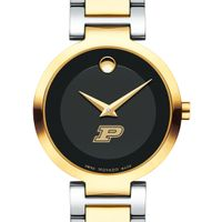 Purdue University Women's Movado Two-Tone Modern Classic Museum with Bracelet