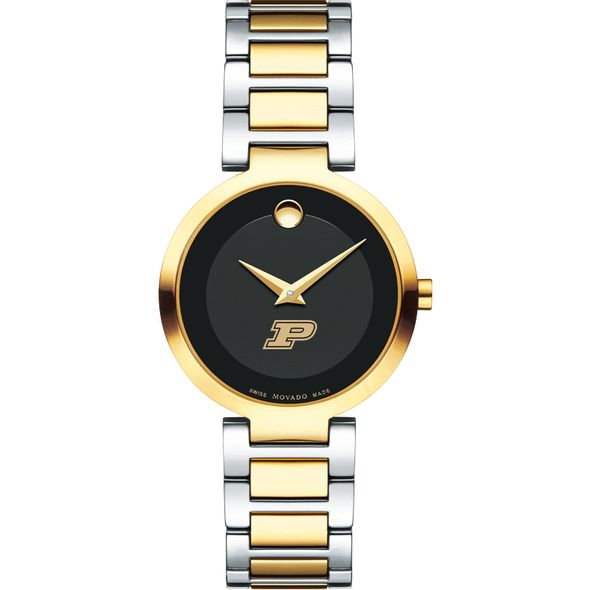 Purdue University Women's Movado Two-Tone Modern Classic Museum with Bracelet - Image 2