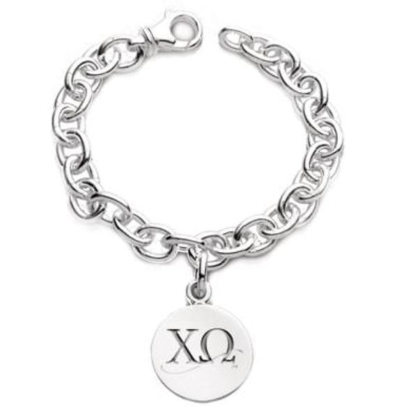 Chi Omega Sterling Silver Charm Bracelet