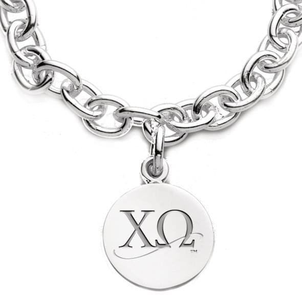 Chi Omega Sterling Silver Charm Bracelet - Image 2
