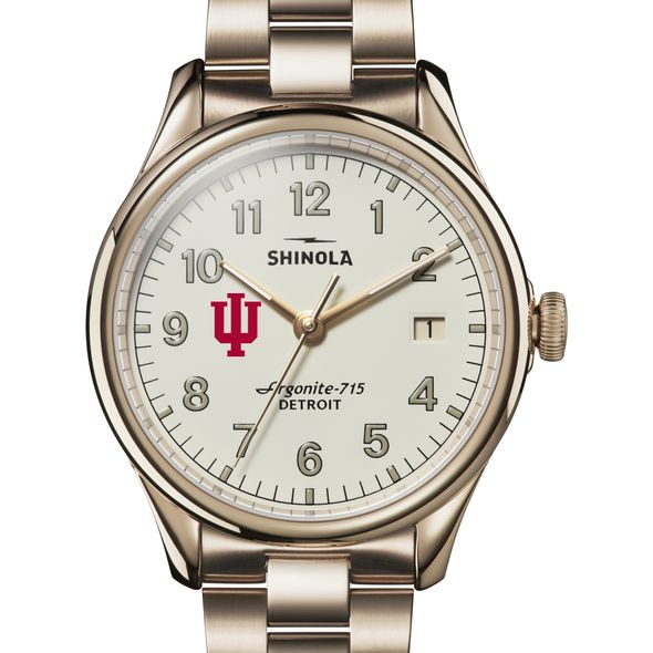 Indiana Shinola Watch, The Vinton 38mm Ivory Dial - Image 1