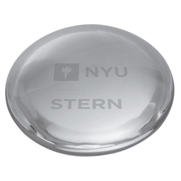 NYU Stern Glass Dome Paperweight by Simon Pearce - Image 2