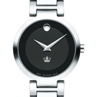 Columbia University Women's Movado Museum with Steel Bracelet