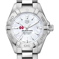 Mississippi State Women's TAG Heuer Steel Aquaracer with MOP Dial