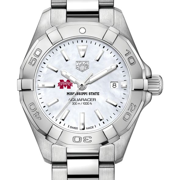 Mississippi State Women's TAG Heuer Steel Aquaracer w MOP Dial