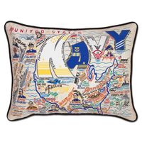 USNA Embroidered Pillow