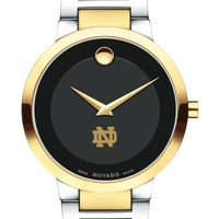 University of Notre Dame Men's Movado Two-Tone Modern Classic Museum with Bracelet