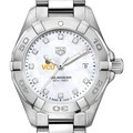 VCU Women's TAG Heuer Steel Aquaracer with MOP Diamond Dial - Image 1