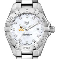 VCU Women's TAG Heuer Steel Aquaracer with MOP Diamond Dial