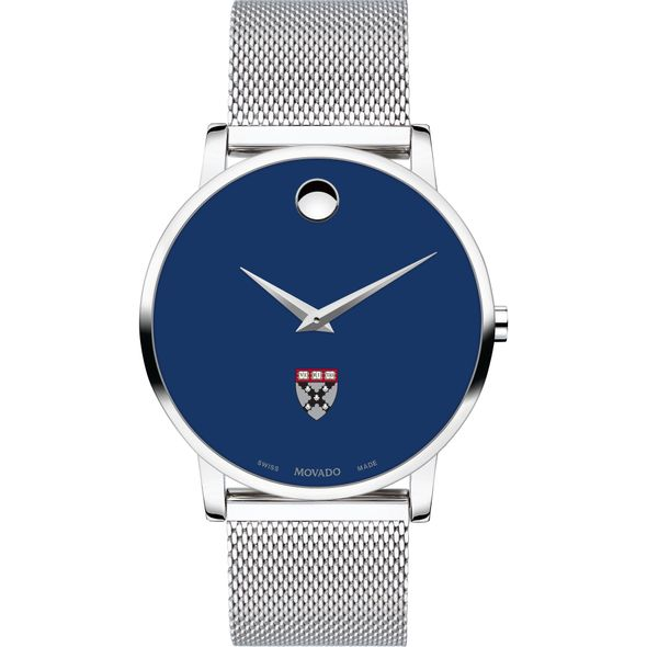 Harvard Business School Men's Movado Museum with Blue Dial & Mesh Bracelet - Image 2