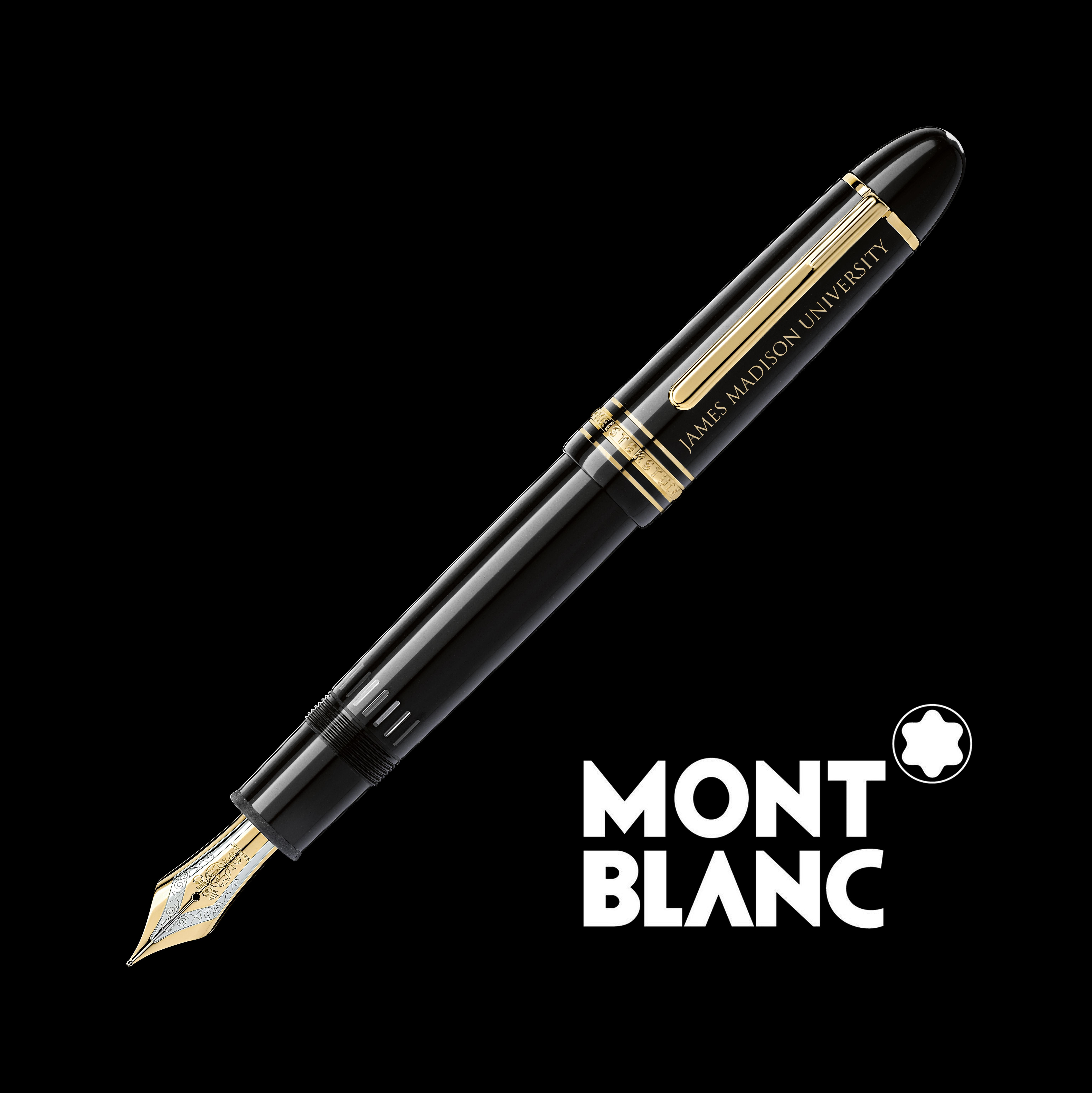 James Madison University Montblanc Meisterstück 149 Fountain Pen in Gold