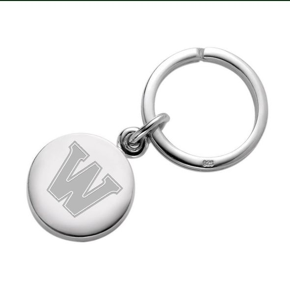 Williams College Sterling Silver Insignia Key Ring - Image 1