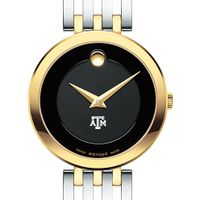 Texas A&M University Women's Movado Esparanza Two-Tone Museum with Bracelet