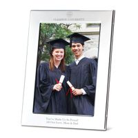 Clemson Polished Pewter 5x7 Picture Frame