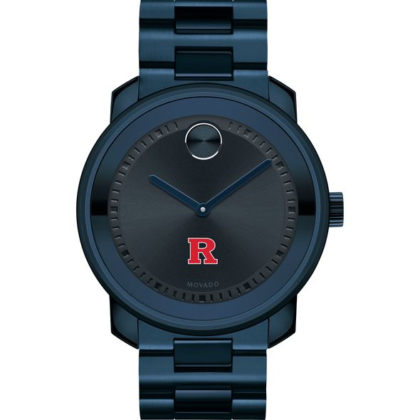 Rutgers University Men's Movado BOLD Blue Ion with Bracelet - Image 2