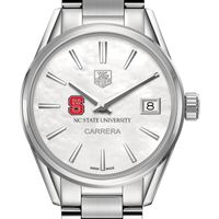 North Carolina State Women's TAG Heuer Steel Carrera with MOP Dial