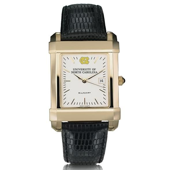 UNC Men's Gold Quad Watch with Leather Strap - Image 2