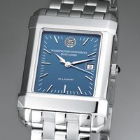 WashU Men's Steel Quad Blue Dial with Bracelet