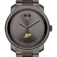 Purdue University Men's Movado BOLD Gunmetal Grey
